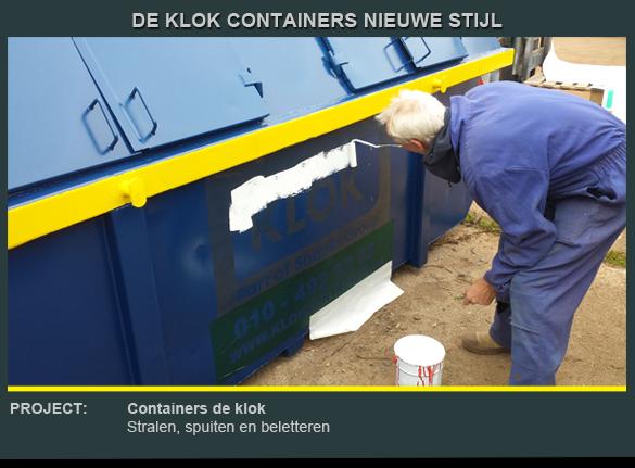 Beletteren container de Klok