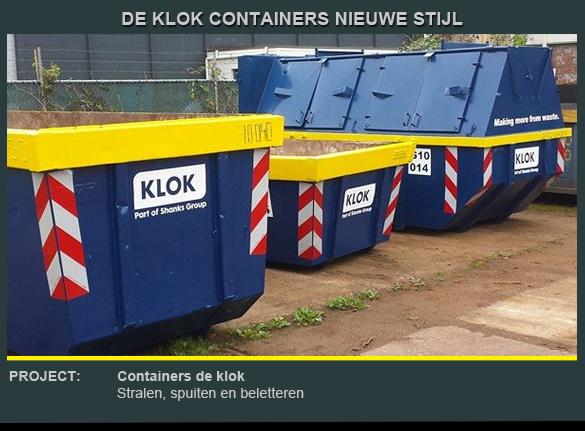 Beletteren container de Klok 2