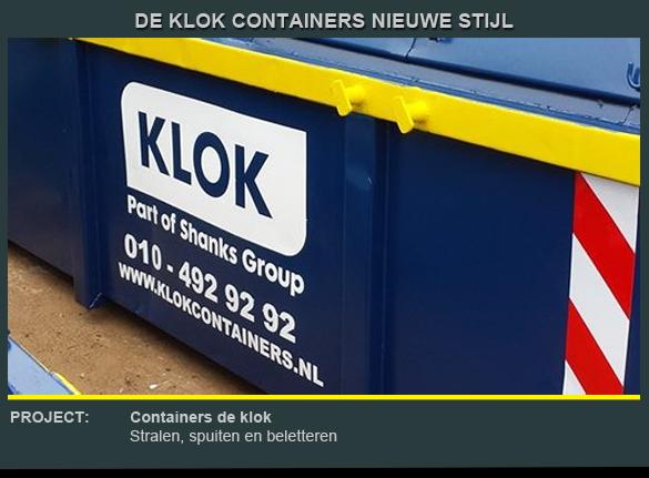 Beletteren container de Klok 3