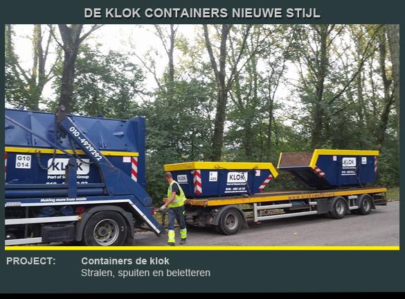 Beletteren container de Klok 4